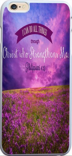 Philippians 4:13 Christian Quote Bible Verses Pattern Print High Quality Hard Plastic Cover Protector Sleeve Case For Apple Iphone 6 Plus 5.5 inches