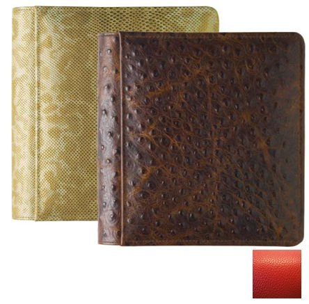 RODEO RED #103 pebble grain leather 1-up 5x7 album by Raika - ()