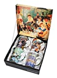 4 Renoir Classics Coffee or Tea Mugs in a Matching Gift Box and 6 Tea Bags, Bundle 2 Items