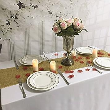 Yzeo 35,6x 274,3cm Sequins chemin de table pour mariage, Autre, doré, 14x108-Inch
