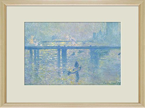 Creative 3D Visual Effect Wall Mural Charing Cross Bridge 1899 by Claude Monet Peel Stick Wall Decor