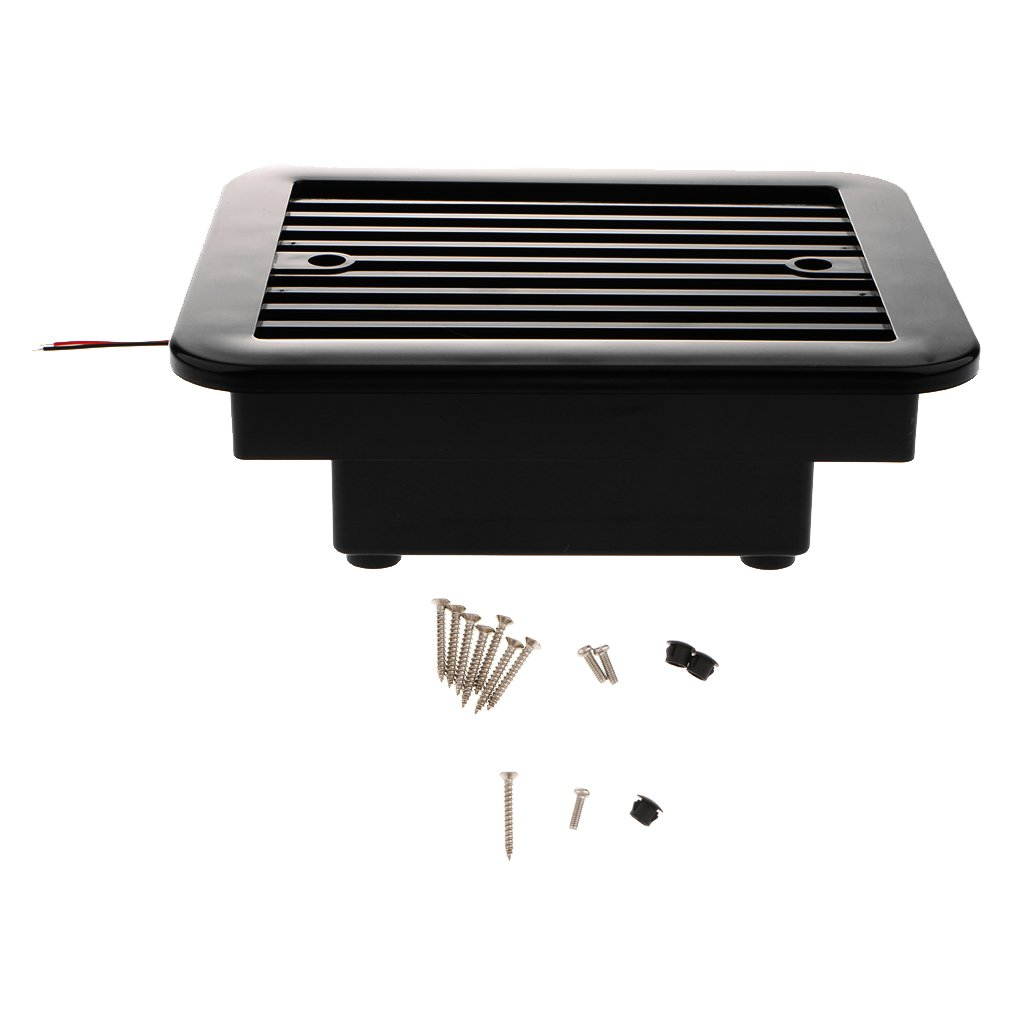 MASO 12V One-Way Silent Cooling Fan Side Exhaust Port Air Fan Ventilation Fans for Car RV Caravan Van Black