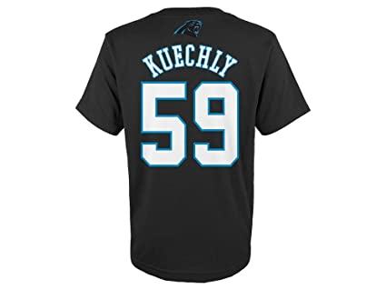 d17f6d4c3 Luke Kuechly Carolina Panthers Youth Mainliner Jersey Name and Number T- shirt Small 8