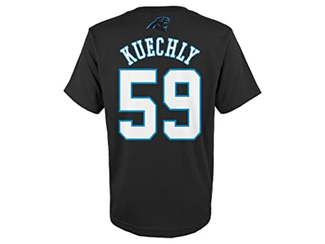 Luke Kuechly Carolina Panthers Youth Mainliner Jersey Name and Number T-shirt  Small 8 2242ab879