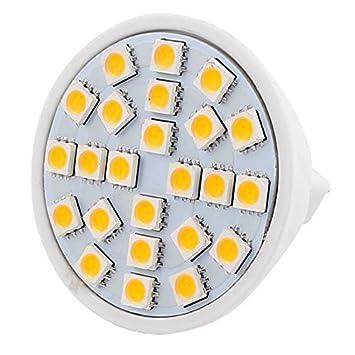 eDealMax MR16 SMD 5050 24 LED 3W 110V AC plástico lámpara ahorro de energía bombilla LED