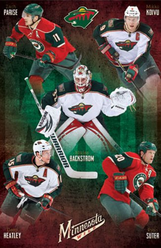 Minnesota Wild Group Hockey Poster