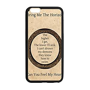 "Bring Me The Horizon Theme Protective Soft TPU Case Cover for iPhone 6 4.7"" - Snap-on Case Protector Black 030304"