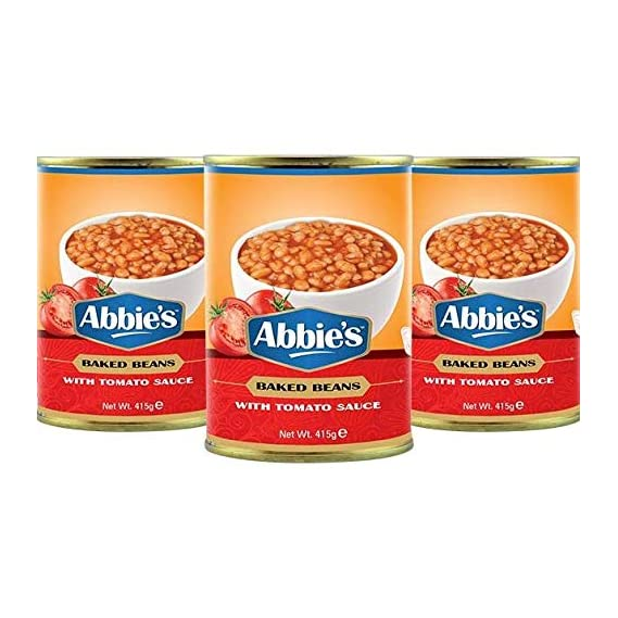 Abbie's Baked Beans in Tomato Juice, 415g (Set of 3)