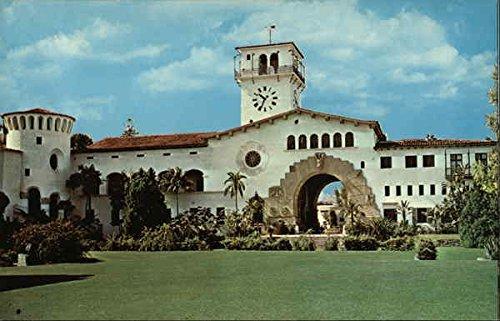 County Courthouse Santa Barbara, California Original Vintage Postcard (County Imports)