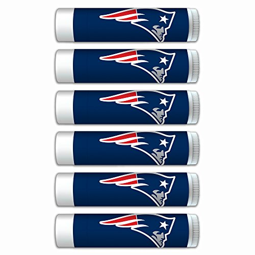 $2.00 OFF New England Patriots Smooth Mint Lip Balm 6-Pack with SPF 15, Beeswax, Coconut Oil, Aloe Vera. NFL Football Gifts for Men and Women, Mother's Day, Fathers Day, Easter, Stocking Stuffers by Worthy Promotional