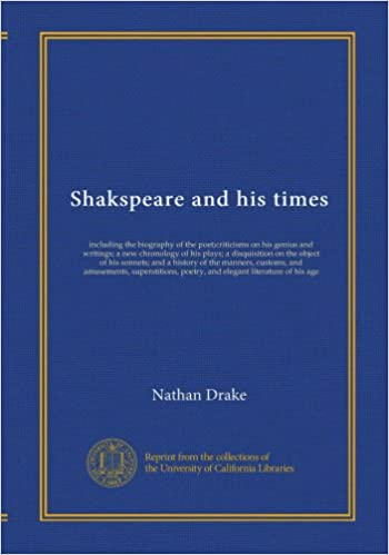 Book Shakspeare and his times (v.2): including the biography of the poet;criticisms on his genius and writings; a new chronology of his plays; a ... superstitions, poetry, and elegant...