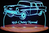 1956 Chevy Nomad Acrylic Lighted Edge Lit 13'' LED Sign / Light Up Plaque 56 VVD1 Full Size USA Original
