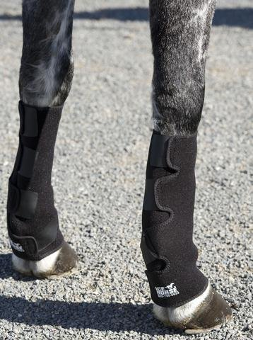 Ice Horse Full Horse Evendura (Low Knee-to-Pastern Ankle Wraps) - Pair with 8 Cold - Wraps Pastern Boot
