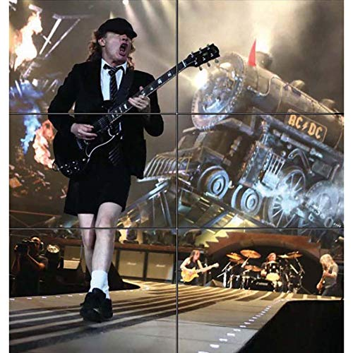 ANGUS YOUNG ACDC HEAVY METAL ROCK MUSIC GUITAR GUITARIST HUGE MOSAIC WALL POSTER PRINT PICTURE X2184 by Doppelganger33LTD