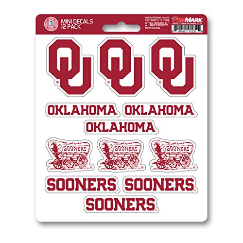 ProMark NCAA Oklahoma Sooners Decal Set Mini (12 Pack), Team Color, One Size ()