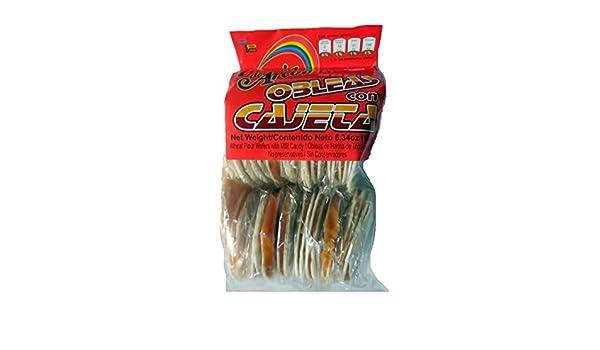 Amazon.com : Mini Obleas with Cajeta Wafers with Goats Milk Candy Arcoiris : Grocery & Gourmet Food