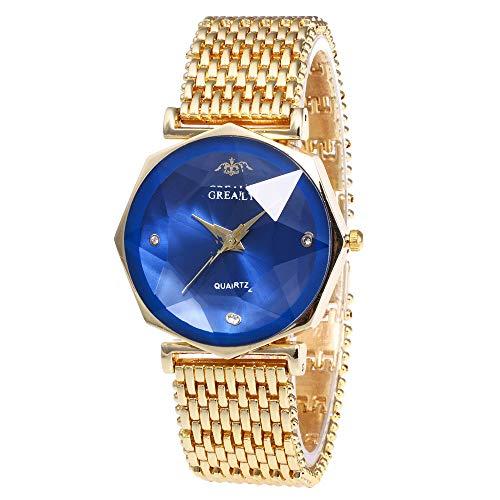Women's Geneva Watch, Unique Analog Fashion Ladies Watch Ladies Watch Ladies Casual Watch, Round Dial Comfortable Imitation Leather -