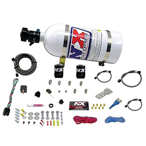 Single System Nozzle (Nitrous Express 20920-10 35-150 HP EFI Single Nozzle System with 10 lbs. Bottle for GM)