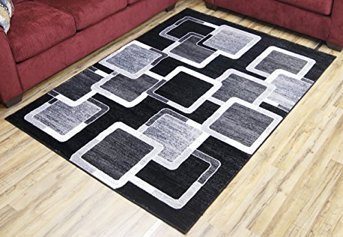 BEYAN Passion Collection Contemporary Style Synthetic Living Room Area Rug, 5'3