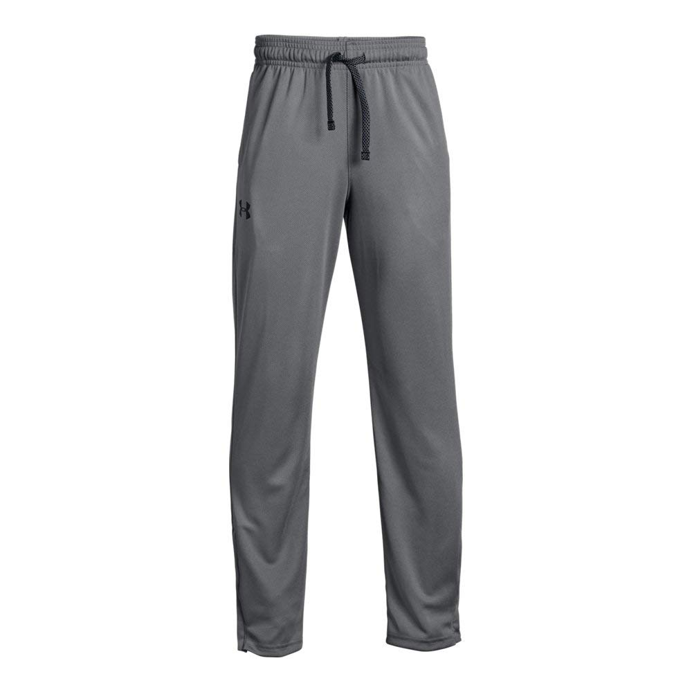 Under Armour Boys' Tech Pants Graphite (041)/Black Youth Small by Under Armour