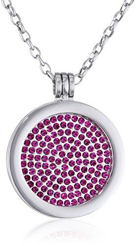 Morella-Damen-Halskette-70-cm-Edelstahl-und-Anhnger-mit-Coin-33-mm-in-Schmuckbeutel
