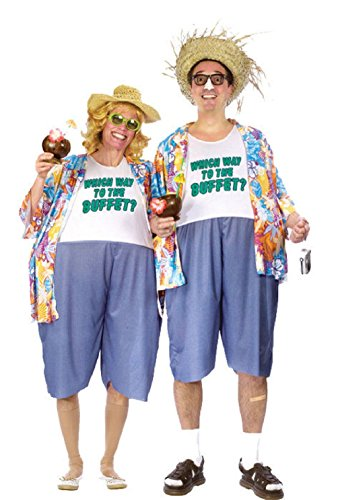 Funny Tacky Traveler Tourist Adult Halloween Costume