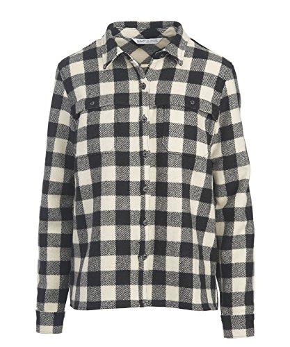 Woolrich Buffalo Check (Woolrich Women's Wool Buffalo Stag Shirt, Black Buffalo Check, Small)