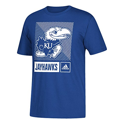 Kansas Adidas Shorts Jayhawks (adidas NCAA Kansas Jayhawks Mens Lined Box Go-To S/Teelined Box Go-To S/Tee, Collegiate Royal, XX-Large)