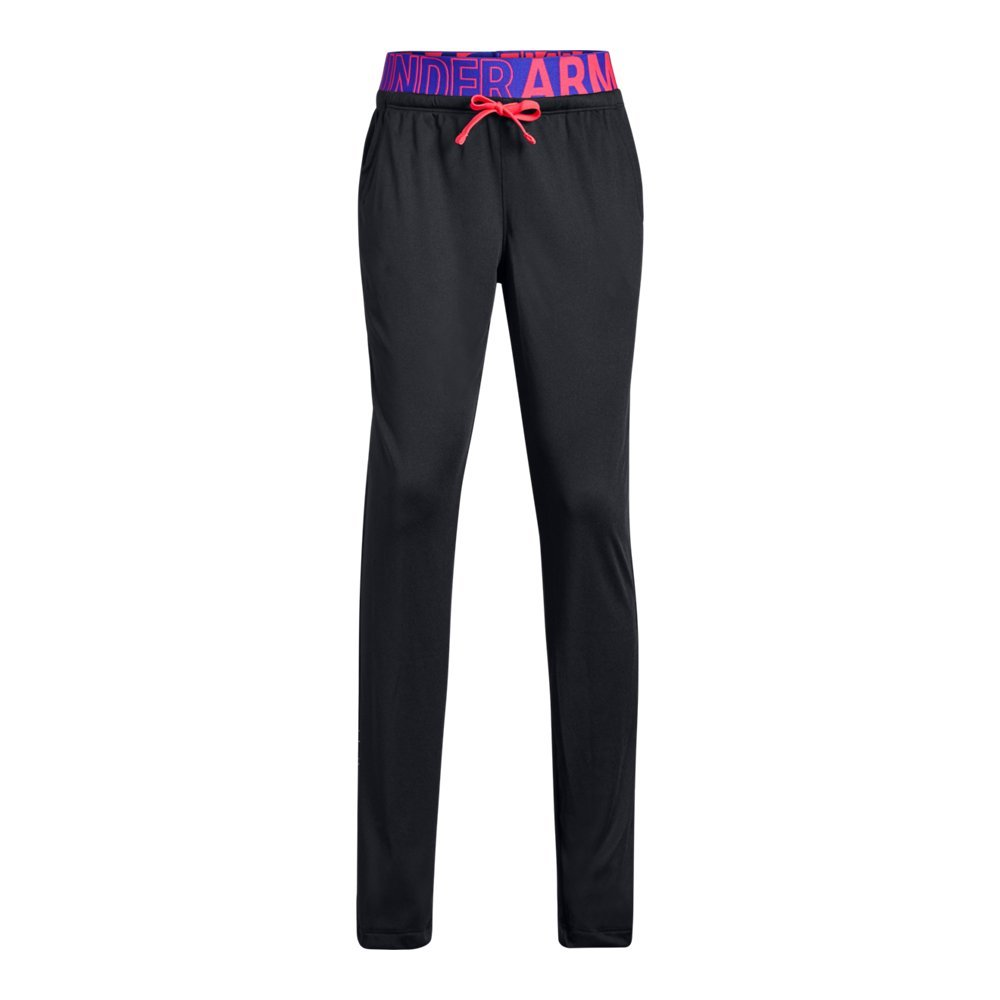 Under Armour Girls Tech Pants, Black (001), Youth Large by Under Armour (Image #1)