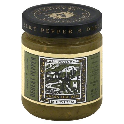 Green Pepper Salsa - Desert Pepper, Salsa Del Rio Med, 16-Ounce (6 Pack)