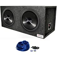 2) Kenwood KFC-W3013PS 12 2400 Watt 4-Ohm Car Subwoofers + Dual Sealed Sub Box