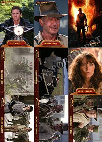 - INDIANA JONES KINGDOM OF THE CRYSTAL SKULL MOVIE 2008 TOPPS BASE CARD SET OF 90