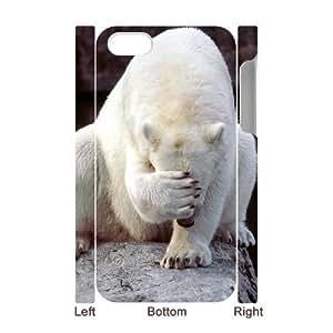 ALICASE Diy 3D Protection Hard Case Polar Bear For Iphone 5C [Pattern-1]