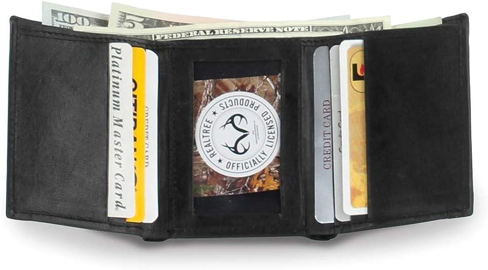 FB Jewels Solid Black Realtree RFID Trifold Wallet