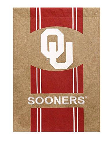 Evergreen NCAA Burlap House Flag (Oklahoma Sooners)