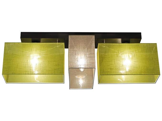 Plafoniera illuminazione a soffitto in legno massiccio jls d