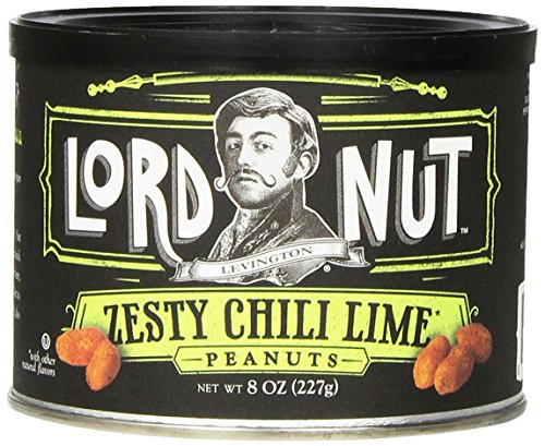 Lord Nut Levington Peanuts, Zesty Chili Lime, 8-Ounce