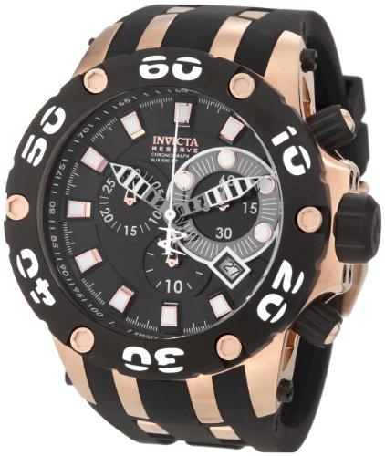 Invicta Men's 0918 Subaqua Reserve Chronograph Black Dial Black Polyurethane Watch