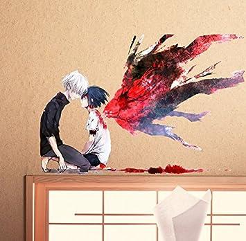 Tokyo Ghoul Anime Cosplay Wandsticker Cartoon Wall Stickers ...