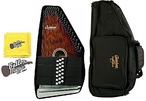 Oscar Schmidt OS21C Natural Finish Acoustic 21 Chord Autoharp w/Gig Bag and Polish Cloth by Oscar Schmidt