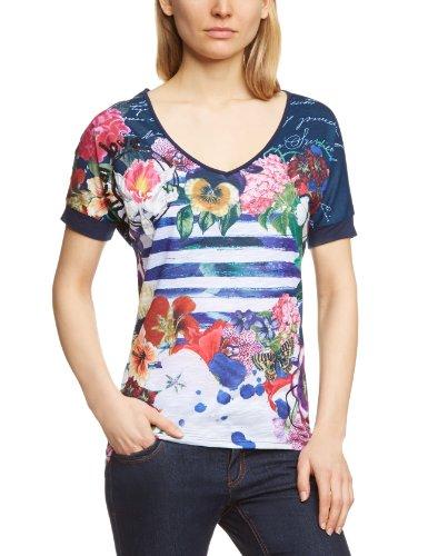 Desigual Ana - Camiseta de manga corta para mujer Azul