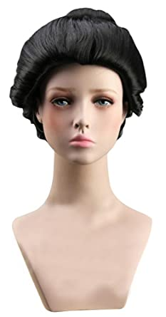 2f3eb1e64 Amazon.com: ACE SHOCK Japanese Geisha Wig Women, Halloween Okuni Cosplay  Hairpiece Masquerade Accessory (One Size): Clothing