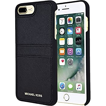 cda64f6bb6a58 Michael Kors Saffiano Leather Case with Pockets for Apple iPhone 7 Plus 5.5  - Black