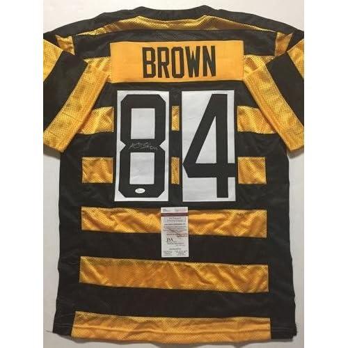 hot sale online efcbc 69ae1 Autographed Antonio Brown Jersey - Bumble Bee COA - JSA ...