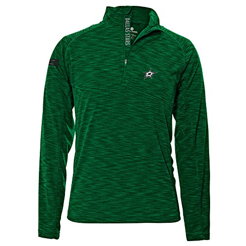 Levelwear LEY9R NHL Dallas Stars Men's Mobility Insignia Strong Style Quarter Zip Mid-Layer Apparel, X-Large, Rider Green