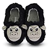 LA PLAGE Boys Comfy Indoor/Outdoor Animals Warm Bedroom Shoes for Kid 10-11 US Orangutan