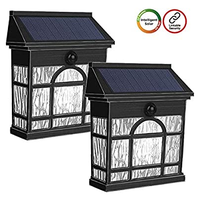 Westinghouse Wireless Linkable Intelligent Solar Motion Sensor Lights Outdoor,LED Light 1200 Lumens Retro Design Security Wall Lights for Front Door,Yard,Patio Driveway Garage Porch Pathway