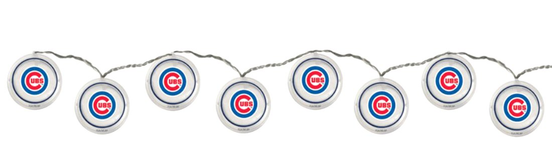 Team Sports America Chicago Cubs String Lights