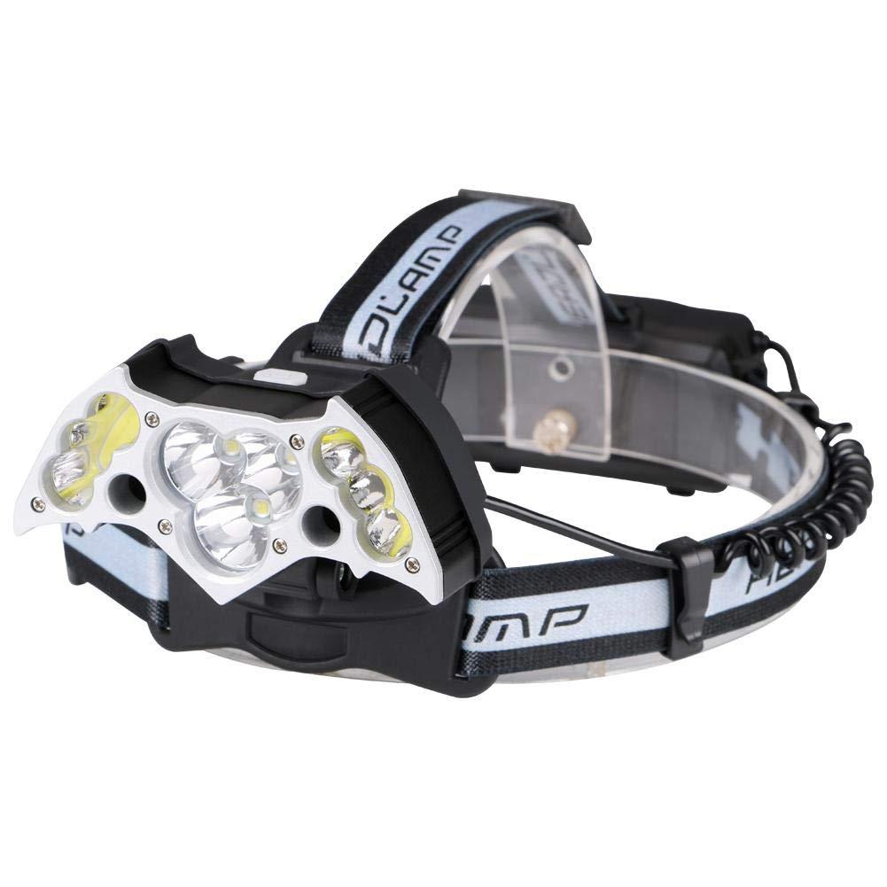 Matefielduk Linterna Frontal LED T6 COB LED Impermeable 5 modos Carga USB Luz de faro para acampar al aire libre - - Amazon.com