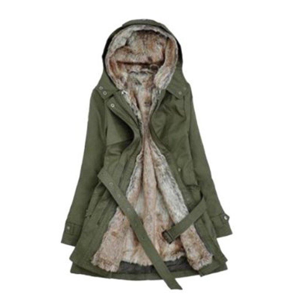 Hee invernale addensare pile pelliccia sintetica Grand extra-caldo cappotto